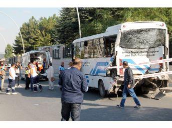 Başkent'te Otobüs Kazası: 12 Yaralı