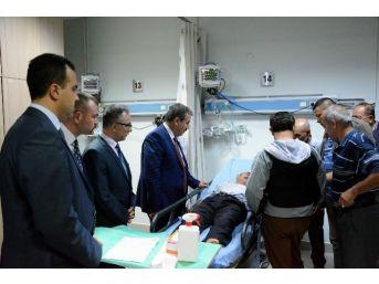 Bbp Genel Başkanı Destici, Yaralıları Hastanede Ziyaret Etti