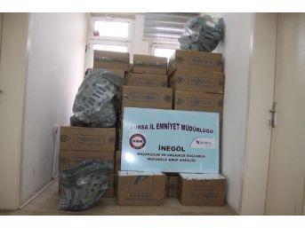 İnegöl'de 30 Bin Paket Kaçak Sigara Ele Geçirildi