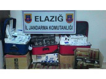 Elazığ'da 10 Bin Paket Kaçak Sigara Ele Geçirildi
