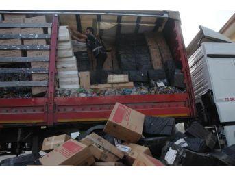 Gaziantep'Te 350 Bin Paket Kaçak Sigara Ele Geçirildi