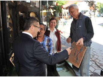 Başkan Tiryaki Kale Esnafını Ziyaret Etti