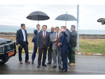 Vali Çınar Sahil Düzenleme Projesi'ni İnceledi
