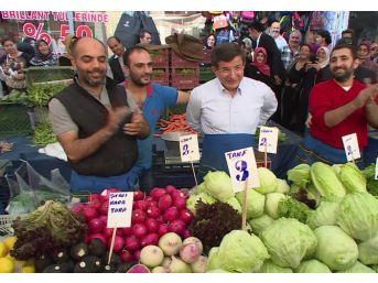 Başbakan Ahmet Davutoğlu Pazarcı Oldu