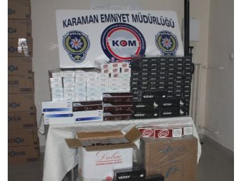 Karaman'da 15 Bin Paket Kaçak Sigara Ele Geçirildi