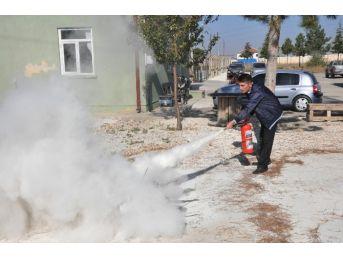 Teiaş Personeline Yangınla Mücadele Eğitimi