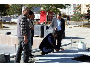 Seydişehir Kent Meydanı'nda Sona Yaklaşıldı