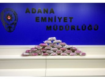 Adana'da 31 Kilo 450 Gram Eroin Ele Geçirildi