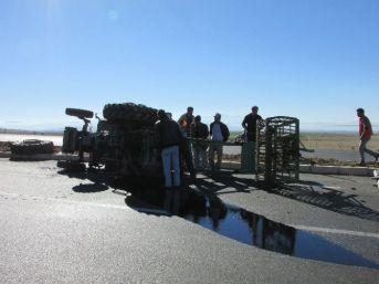 Sandıklı'da Traktör Kazası,1 Yaralı