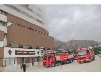 Amasya Emniyet Müdürlüğü'nde Yangın Tatbikatı