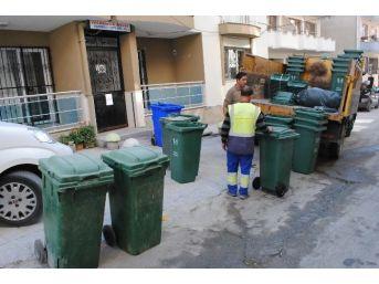 Kuşadası Türkmen Mahallesi'nde Saatli Çöp Çıkartma Uygulaması Başladı