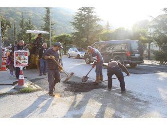 Sapanca Belediyesi Asfalt Çalışmalarına Devam Ediyor
