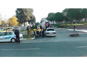 Çan'da Trafik Kazası : 1 Yaralı