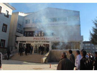 Hastanede Yangın Ve Deprem Tatbikatı