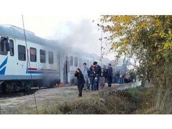 Yolcu Treninde Korkutan Yangın