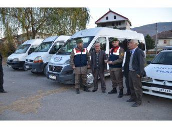 Hanönü'de Taşımalı Öğrenci Servis Araçlarına Denetleme