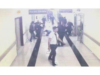 3 Güvenlik Görevlisinin Bıçaklandığı Kavga Güvenlik Kamerasında