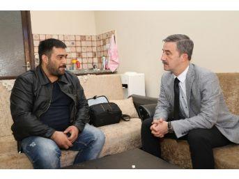 Başkan Şirin'den Muhtar Gürel'e Geçmiş Olsun Ziyareti