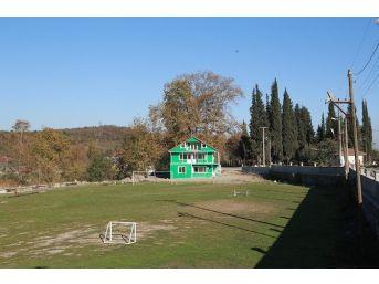 Akçay Mahallesi Spor Ve Kültür Merkezi Duvarları Tamamlandı