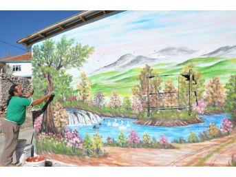 Sandıklı'da Köy Duvarları Sanatla Buluştu