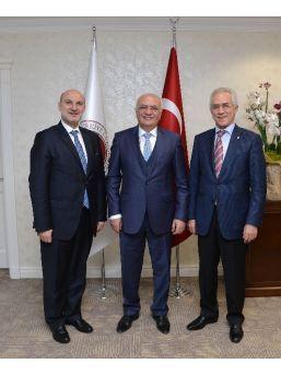 Bakan Elikaş, Deik Başkanı Vardan'ı Kabul Etti
