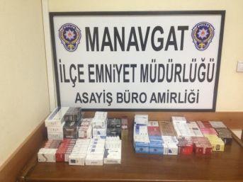 Manavgat Polisinden Kaçak Sigara Operasyonu