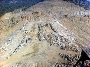 Çine Gökbel Barajı'nda Çalışmalar Hızla Devam Ediyor