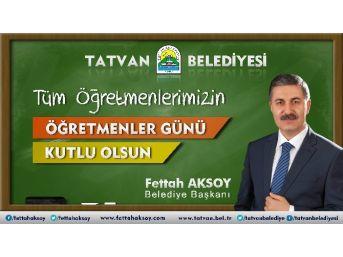 Başkan Aksoy'dan Öğretmenler Günü Mesajı