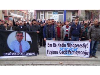 Elçi'nin Öldürülmesi Hakkari'de Protesto Edildi