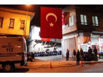 Şehidin Baba Ocağı Türk Bayraklarıyla Süslendi