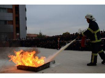 Kırıkkale Pmyo'da Yangın Tatbikatı