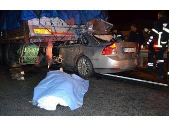 Hurdaya Dönen Otomobilde Öldü