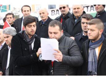 İhh Türkmenlere Uygulanan Zulmü Protesto Etti
