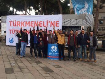 Alaşehir Ülkü Ocaklarından Suriye'deki Türkmenlere 3 Tır Yardım