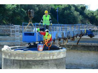 İçmeler Aat'nin Çöktürme Havuz Köprüsü Yenilendi