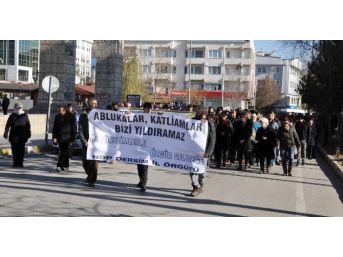 Hdp Tunceli'de Sokağa Çıkma Yasaklarını Protesto Etti
