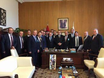 Ziraat Odası Başkanları Meclis'te Turan'ı Ziyaret Etti