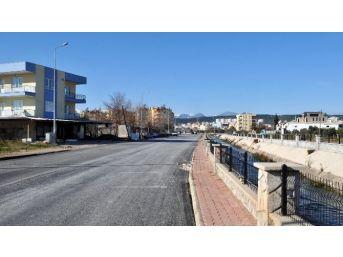 Kepez Belediyesi Düden Yolunda Asfalt Çalışması Başlattı