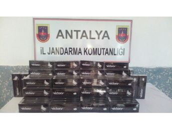 Otomobil Bagajında Bin 800 Paket Kaçak Sigara