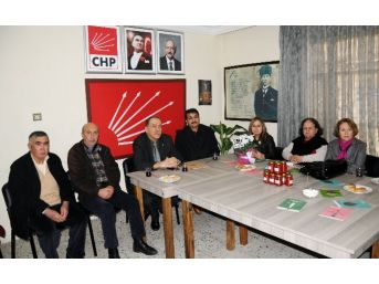 Tema Erdemli Temsilciliği'nden Chp İlçe Yönetimine Ziyaret