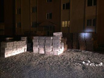 Doğubayazıt'ta 350 Bin 500 Paket Kaçak Sigara Ele Geçirildi