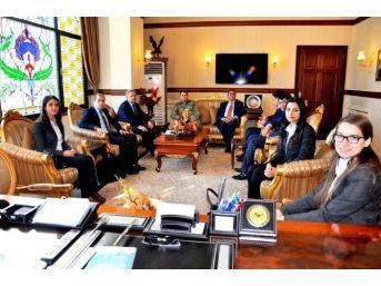 Geleceğin Hakim Ve Savcı Adayları Vali Kahraman'ı Ziyaret Etti