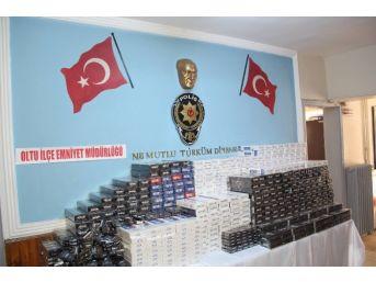 Oltu'da 6 Bin Paket Kaçak Sigara Ele Geçirildi