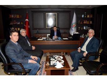 Terzialan Belediye Başkanı Göymen Başkan Kuzu'yu Makamında Ziyaret Etti