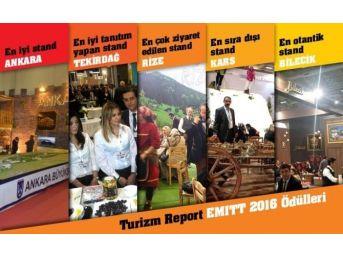 Turizm Report Emıtt 2016 Fuarı'nın 'en İyi'lerini Belirledi