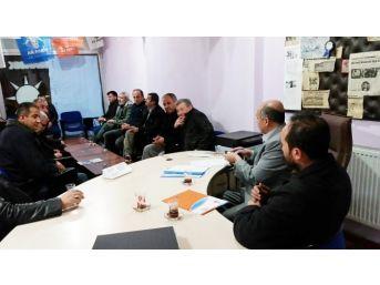 Ak Parti Kütahya İl Yönetim Kurulu Üyesi Köylü'den Hisarcık Teşkilatı'na Ziyaret