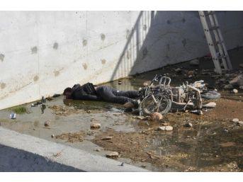 Su Kanalına Düşen Motosiklet Sürücüsü Öldü