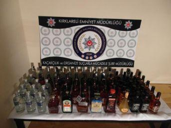 Kırklareli'de Kaçak İçki Operasyonu