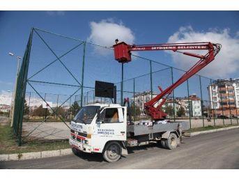 Seydişehir'de Spor Sahaları Tadilattan Geçiriliyor