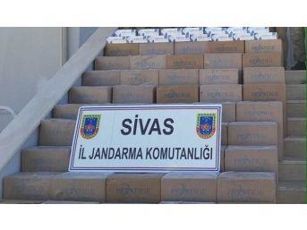 Gürün'de 15 Bin Paket Kaçak Sigara Ele Geçirildi